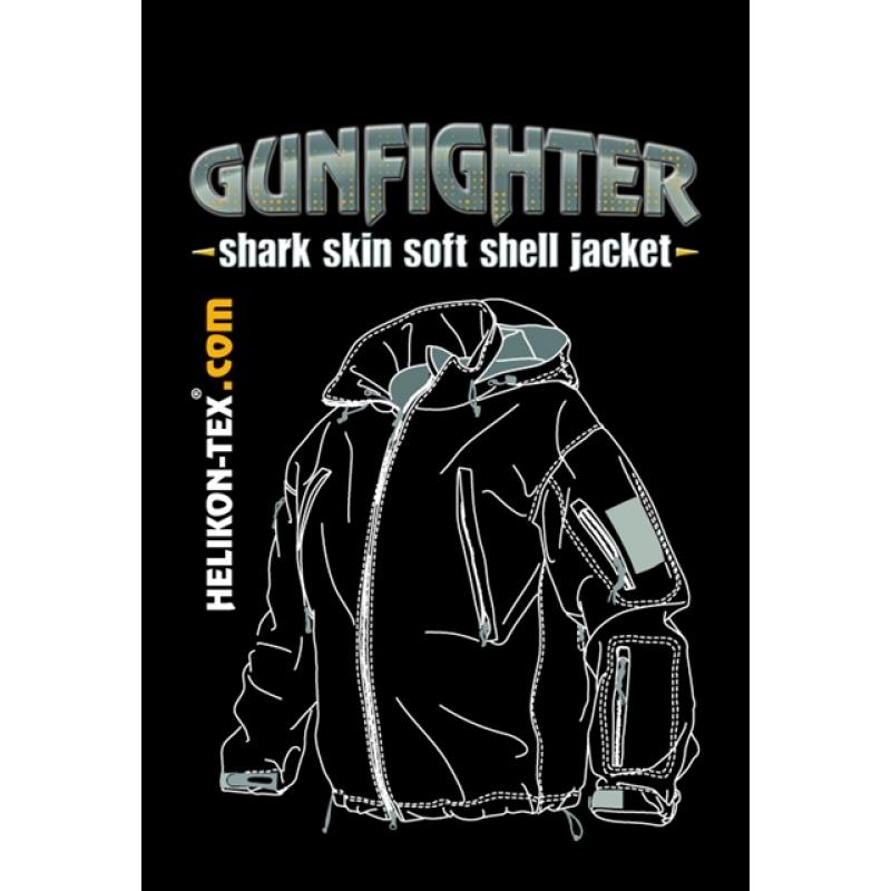 d3bae797619 HELIKON Gunfighter Shark Skin Soft Shell fliis-jakk, Jungle Green
