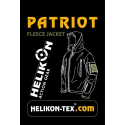 HELIKON Patriot Double Heavy  fliis-jakk, must