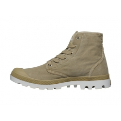 Palladium Pampa Hi, Dark Khaki / Silver Birch