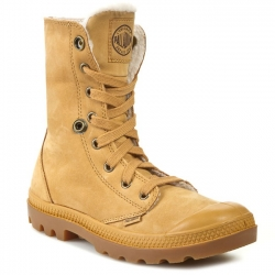 PALLADIUM BAGGY LEATHER S naiste talvejalats, Amber Gold / Gum