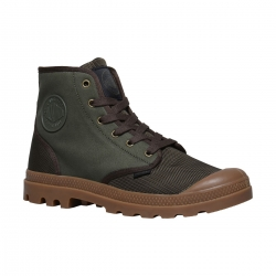 Palladium Pampa Hi Army Green / Chocolate / Mid G