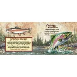 American Expedition Rainbow Trout 7 oz Steel plasku komplekt, kinkekarbis