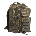 MIL-TEC US Assault Large seljakott, Flecktarn