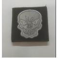 Embleem kolp helkurmaterjaliga, must, 5x5 cm, takjapaelaga