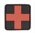 PVC 3D keskmine Meditsiini risti tunnussilt, punane must