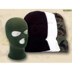 Kootud mask Balaclava 3-avaga, Must