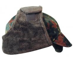 BW Saksa armee talvemüts, Flecktarn, kasutatud