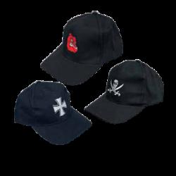 McAllister pesapallimüts, must, ristiga