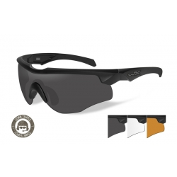 WileyX ROGUE COMM Grey/Clear/Rust ballistilised prillid, must