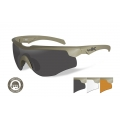 WileyX ROGUE COMM Grey/Clear/Rust ballistilised prillid