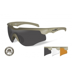 WileyX ROGUE COMM Grey/Clear/Rust ballistilised prillid
