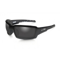 WileyX TITAN Polarized Smoke Grey Gloss ballistilised prillid, must