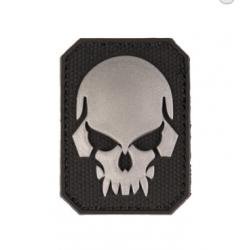 Must PVC 3D tunnussilt kolju sümboliga väike, takjapaelaga