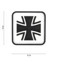 Embleem 3D PVC  German cross valge