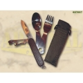 Multifunktsionaalne nuga söögiriistade ja vöökotiga