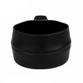 Rootsi kokkupandav kummikruus FOLD-a-CUP® 200 ml, Must