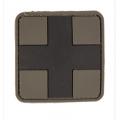 PVC 3D keskmine Meditsiini risti tunnussilt, olive