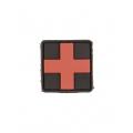 PVC 3D väike Meditsiini risti tunnussilt, punane must