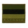 Kaitseväelase vormiriietuse varrukal olev riigitunnus roheline, 5x6